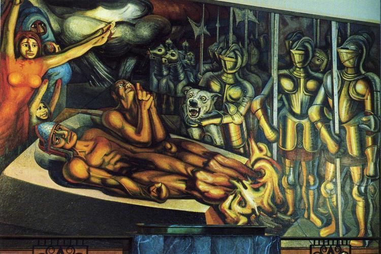 David-Alfaro-Siqueiros-The-Torment-of-Cuauhtemoc
